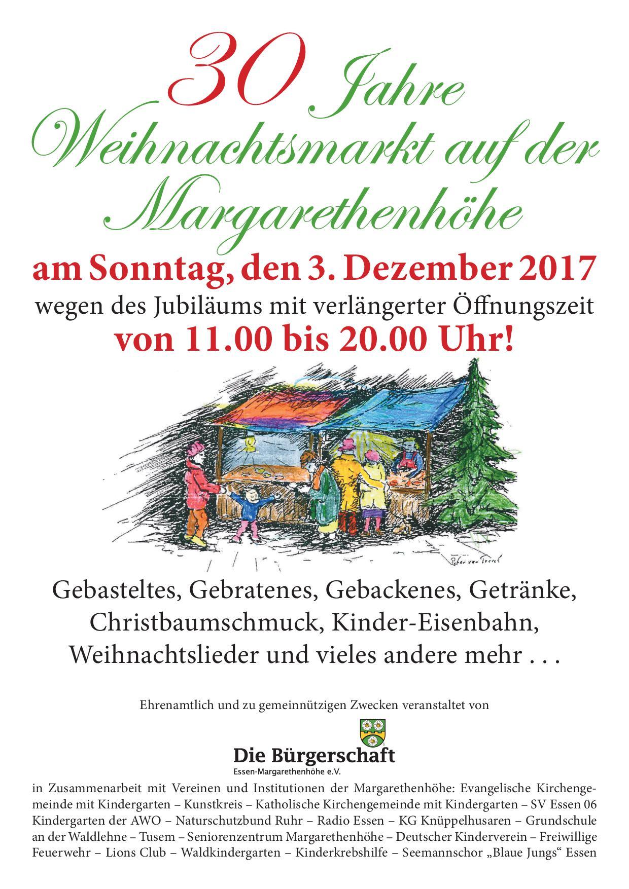 30. Weihnachtsmarkt auf der Margarethenhöhe – Freiwillige Feuerwehr ...